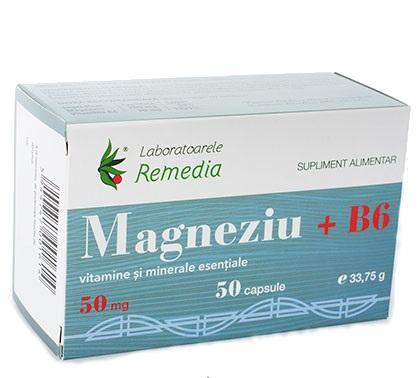 Magneziu 50 Mg + B6 50 cps Remedia [0]