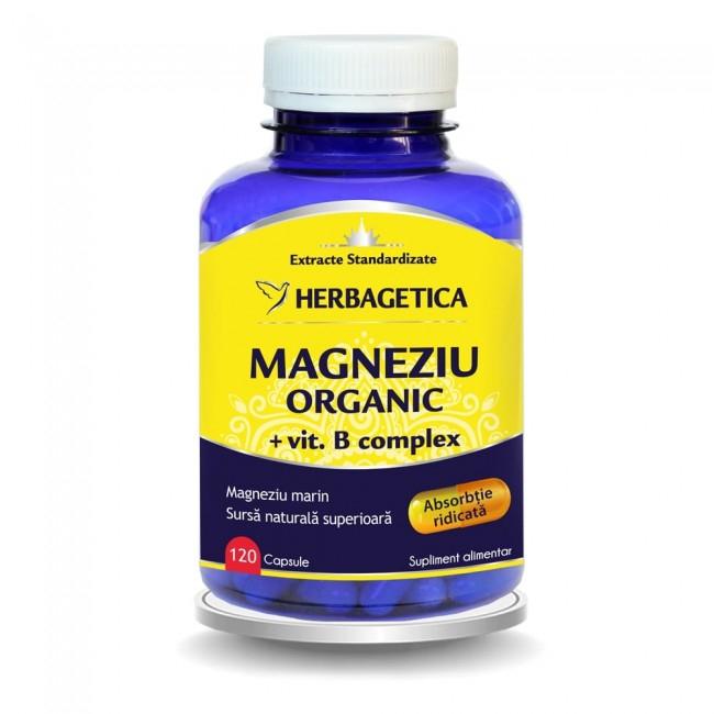 Magneziu Organic 120 cps Herbagetica [0]