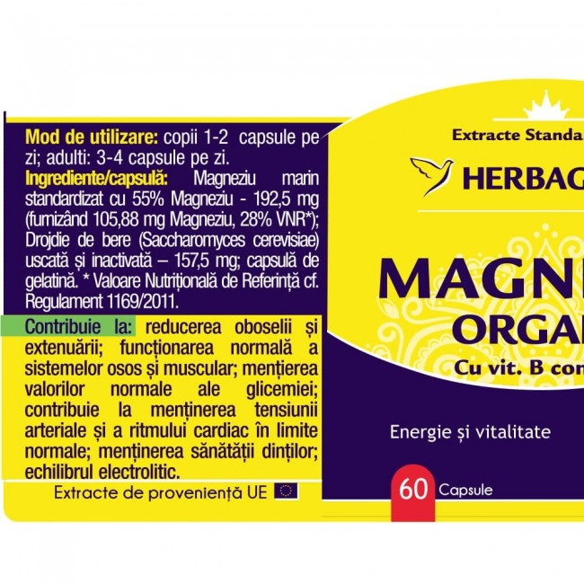 Magneziu Organic 60 cps Herbagetica [1]