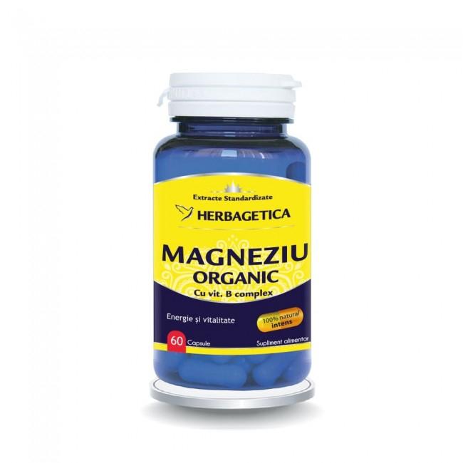 Magneziu Organic 60 cps Herbagetica [0]