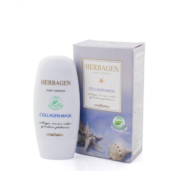 Masca Cu Colagen Marin si Spirulina 50 g Herbagen 0
