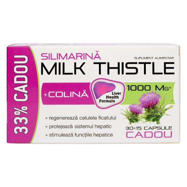 Milk Thistle + Colina 30 cps zdrovit 0