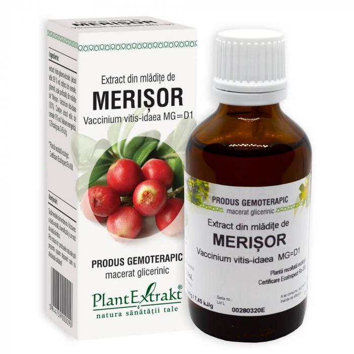 Extract din mladite de MERISOR ( Vaccinium vitis idaea MG = D1 ) 50ml Plant Extrakt 0