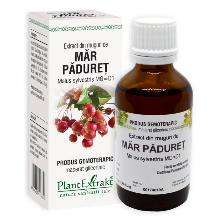 Extract din muguri de MAR PADURET ( Malus Sylvestris MG=D1 ) 50ml Plant Extrakt 0