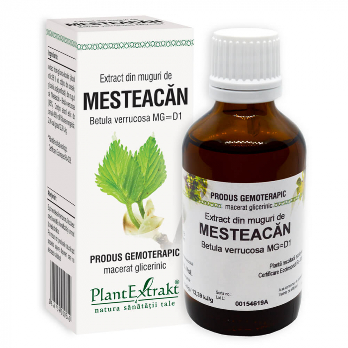 Extract din muguri de MESTEACAN ( Betula verrucosa MG = D1 ) 50ml Plant Extrakt 0