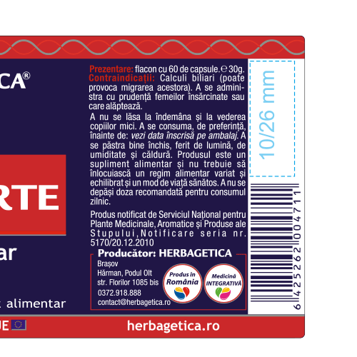 Olivo Forte 60 cps Herbagetica #reducere [2]