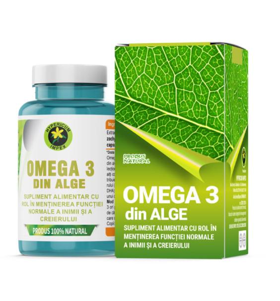 Omega 3 Din Alge 60 cps Hypericum 0
