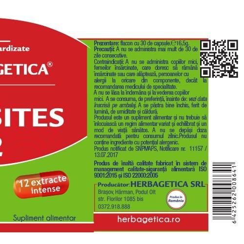 Parasites 12 Detox Forte x 60 cps  #vara Herbagetica 2
