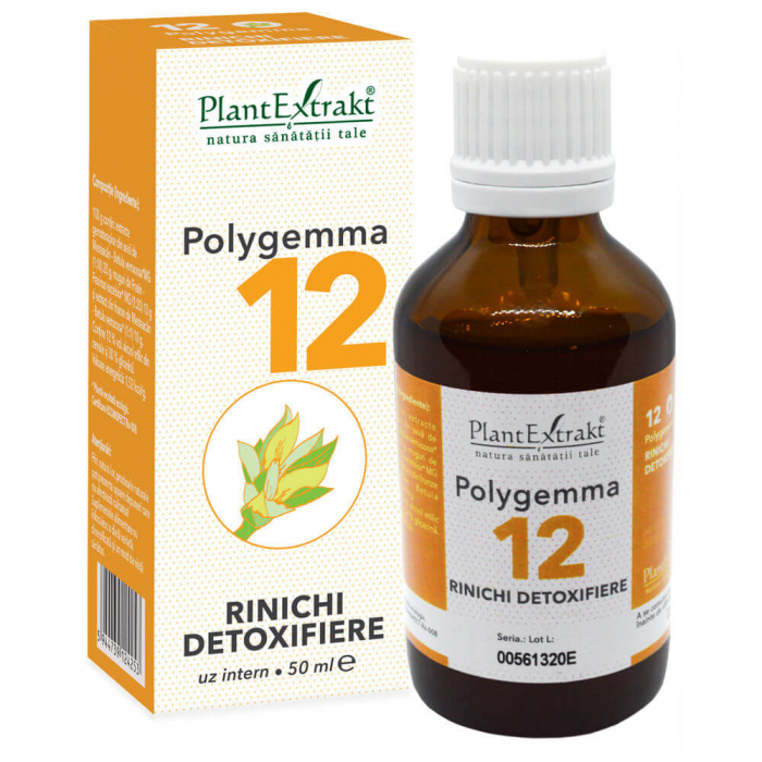 Polygemma nr. 12 ( Rinichi - Detoxifiere ) 50 ml Plant Extrakt [0]