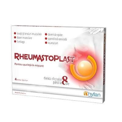 Rheumastoplast Hot x 8 plasturi - Hyllan Pharma 0