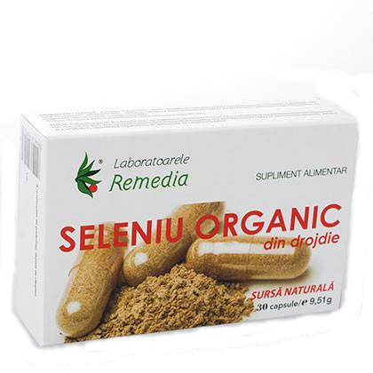 Seleniu Organic 30 cps Remedia 0