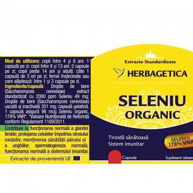 Seleniu Organic 60 cps Herbagetica 1