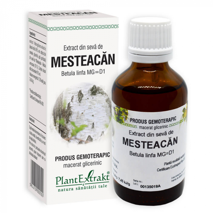 Extract din seva de MESTEACAN ( Betula linfa  MG = D1 ) 50ml Plant Extrakt 0