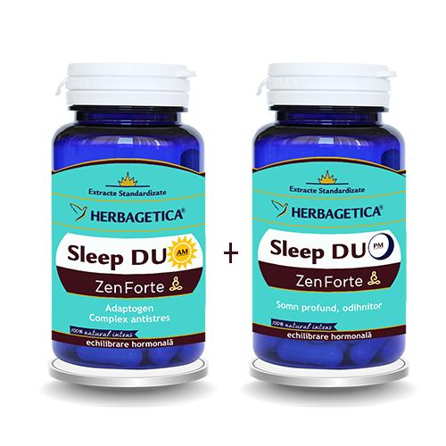 Sleep Duo AM/PM Zen Forte x 120 cps Herbagetica 0