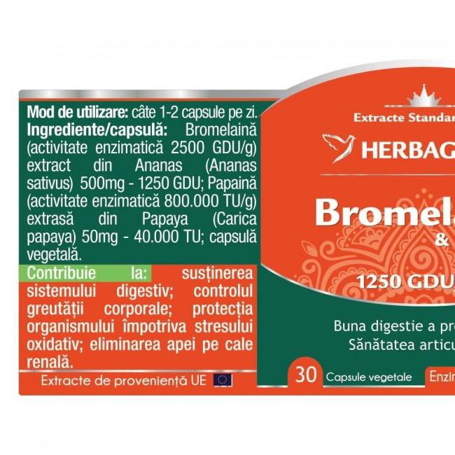 Bromelaina & Papaina 30 cps Herbagetica 1