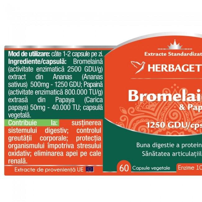 Bromelaina & Papaina 60 cps Herbagetica 1