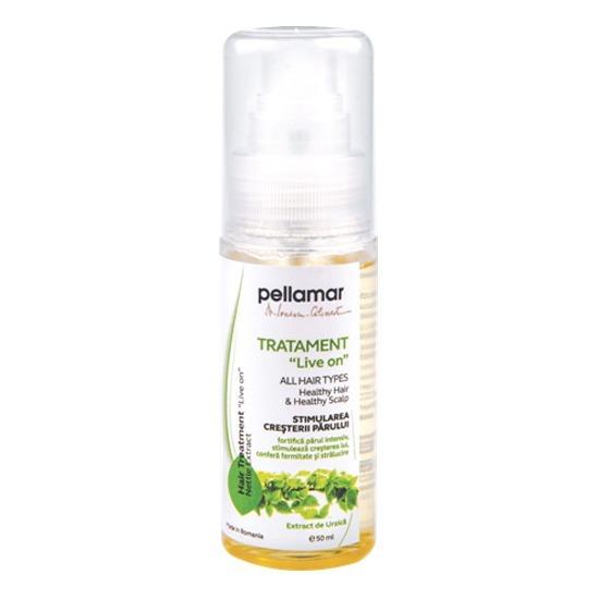 """Tratament """"leave on"""" stimularea creşterii părului - extract de urzică x 50 ml PellAmar 0"""