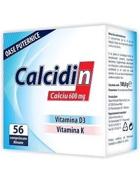Calcidin (600 mg Ca) x 56 cpr Zdrovit [0]
