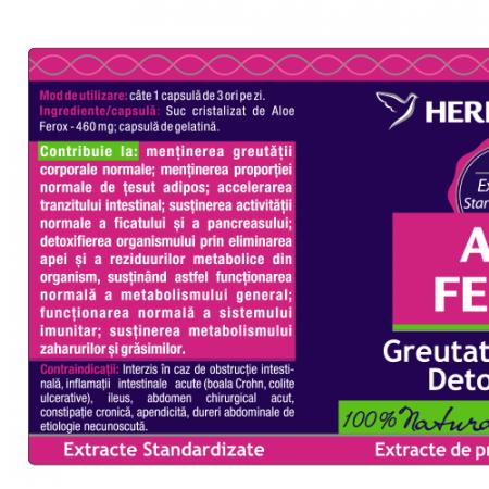 Aloe Ferox 30 cps Herbagetica [1]