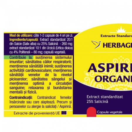 Aspirina Organica 30 cps Herbagetica [1]