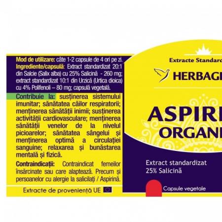Aspirina Organica 60 cps Herbagetica [1]