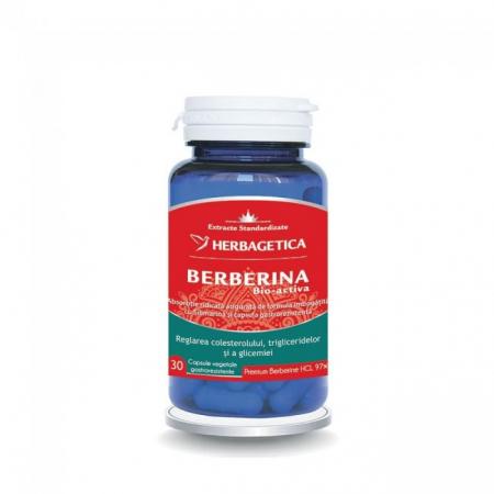 Berberina Bio-activa 30 cps Herbagetica0