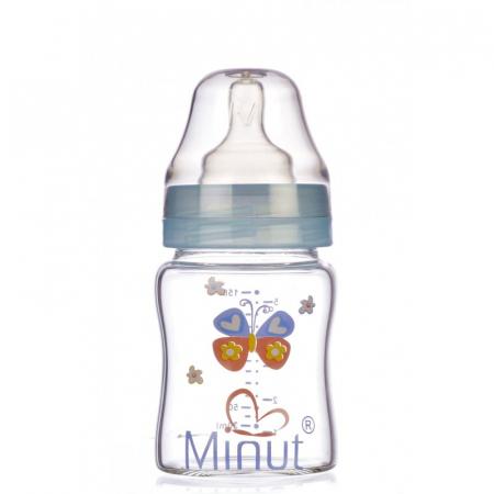 Biberon Sticla Premium Gat Larg 0+ 150 ml Minut [1]