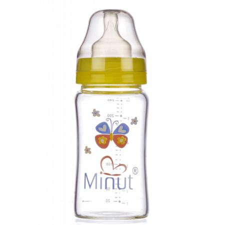 Biberon Sticla Premium Gat Larg 3+ 240 ml Minut0