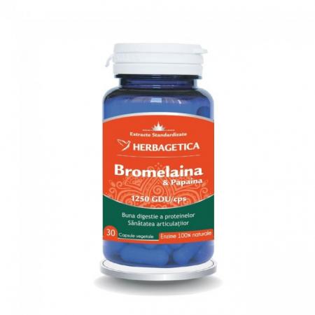 Bromelaina & Papaina 30 cps Herbagetica0