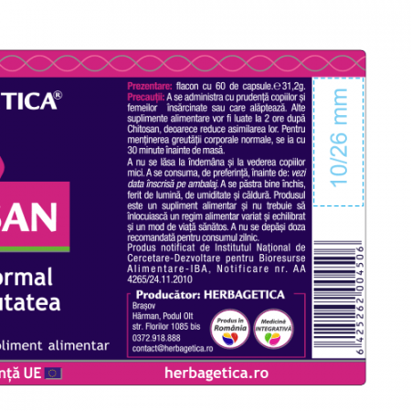 Chitosan 60 cps Herbagetica [2]