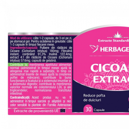 Cicoare Extract 30 cps Herbagetica -10%1