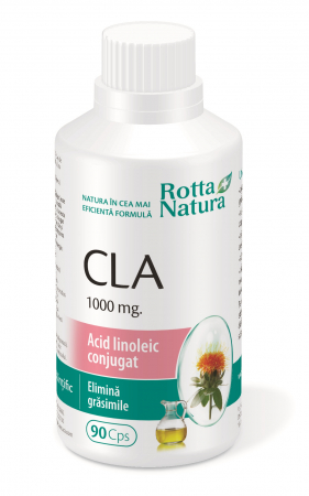 CLA  Acid Linoleic Conjugat 1000 Mg 90 cps Rotta Natura [1]