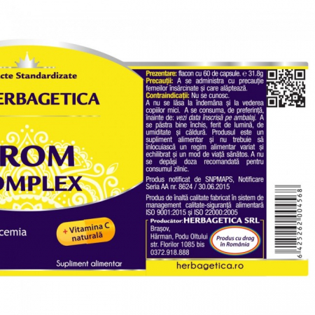 Crom Complex 60 cps Herbagetica [2]