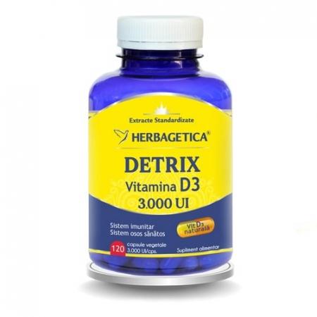 Detrix Vitamina D3 3000 UI 120 cps Herbagetica0
