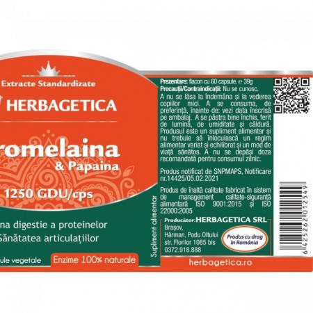 Bromelaina & Papaina 60 cps Herbagetica2