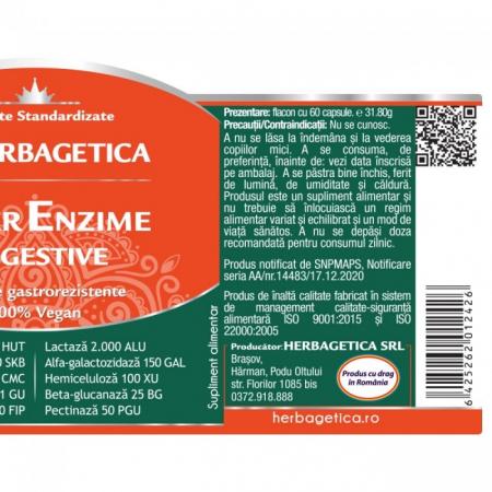 Super Enzime Digestive 60 cps Herbagetica2