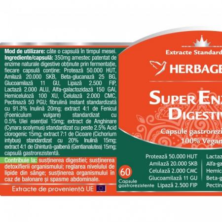 Super Enzime Digestive 60 cps Herbagetica1