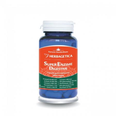 Super Enzime Digestive 60 cps Herbagetica0