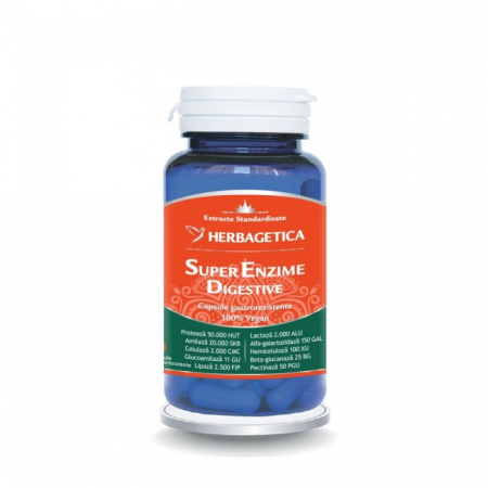 Super Enzime Digestive 30 cps Herbagetica -10%0