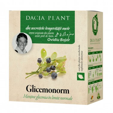 Glicemonorm Ceai 50 g Dacia Plant [1]