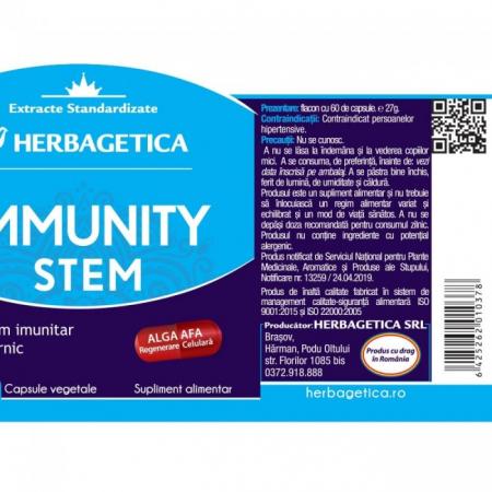 Immunity Stem 30 cps Herbagetica [2]