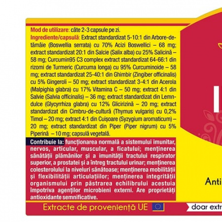 Inflanat Curcumin 95 30 cps Herbagetica [1]