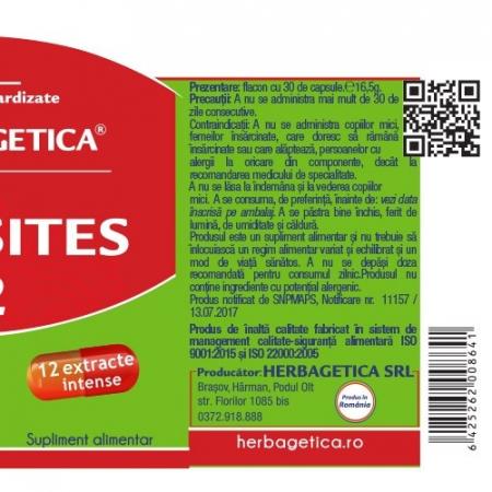 Parasites 12 Detox Forte x 60 cps  #vara Herbagetica2
