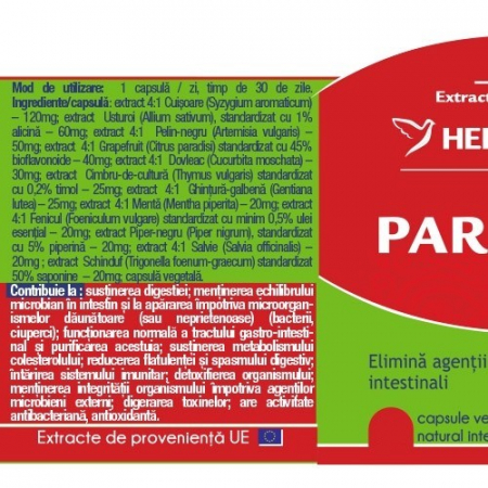 Parasites 12 Detox Forte x 120 cps #vara Herbagetica1