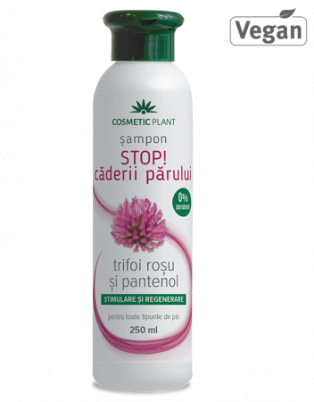 Sampon Stop Caderii Parului cu Trifoi Rosu si Pantenol x 250 ml Cosmetic Plant1