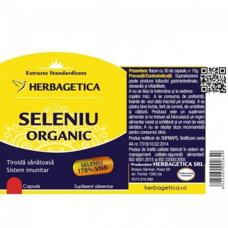 Seleniu Organic 30 cps Herbagetica [2]