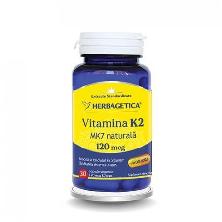 Vitamina K2 MK7 Naturala 30 cps Herbagetica0