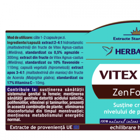 Vitex 0.5/10 Zen Forte 30 cps Herbagetica1