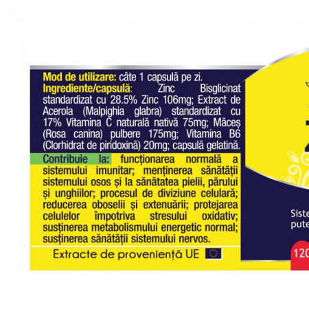 Zinc Forte 120 cps Herbagetica1