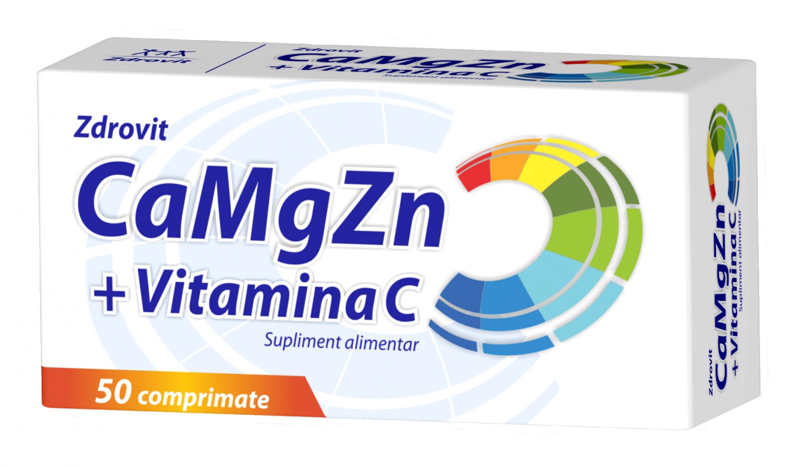 Ca + Mg + Zn + Vitamina C Forte Zdrovit, 20 plicuri - sanchi.ro